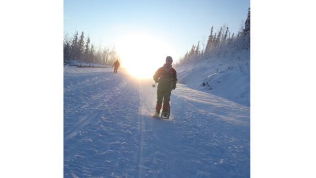 Eiskalte Idylle: Sonnenschein erhellt das Gemüt.