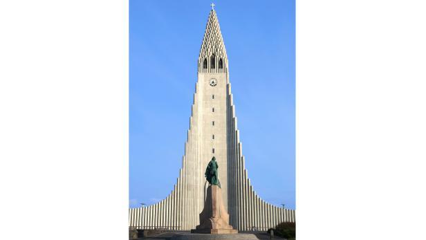 Kirche Hallgrimskirkja in der Hauptstadt Reykjavik