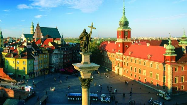 Sehenswert: Die historische Altstadt von Warschau ist UNESCO-Weltkulturerbe.