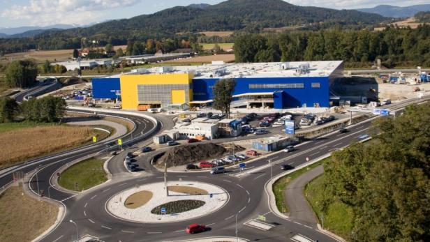Jüngster Zuwachs: Ikea-Möbelhaus in Klagenfurt