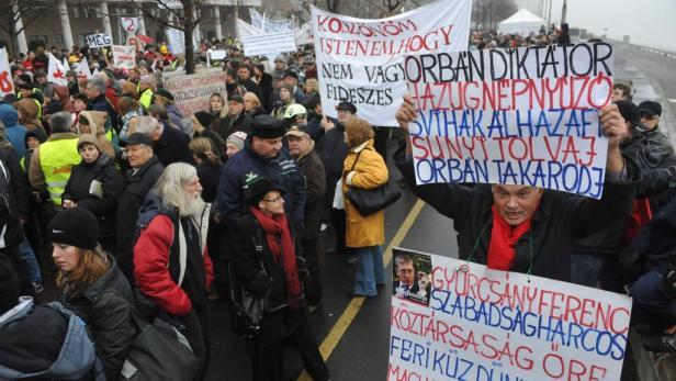 Protest gegen die Regierung im Dezember 2011.