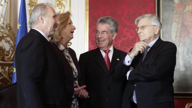 Kontinuierlicher Kontakt: Mit Fekter, Fischer und Trichet.