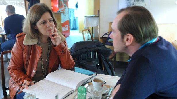 Gespräch mit Birgit Braunrath im Café Prückel am Wiener Ring