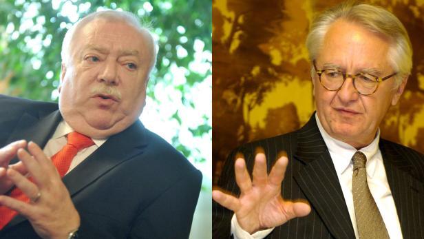 Bürgermeister und Buhmann: Michael Häupl (li.) und Ex-Bank-Austria-Chef Gerhard Randa.