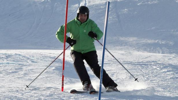 Phase 3: Der Kursteilnehmer wedelt wie ein Andorraner bei Olympia.