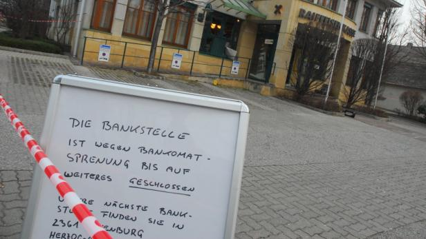 biedermannsdorf bankomat bank sprengung