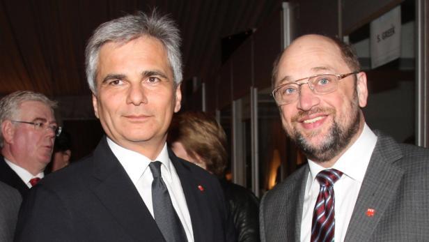 Europas Sozialdemokraten-Duo: Faymann und Schulz