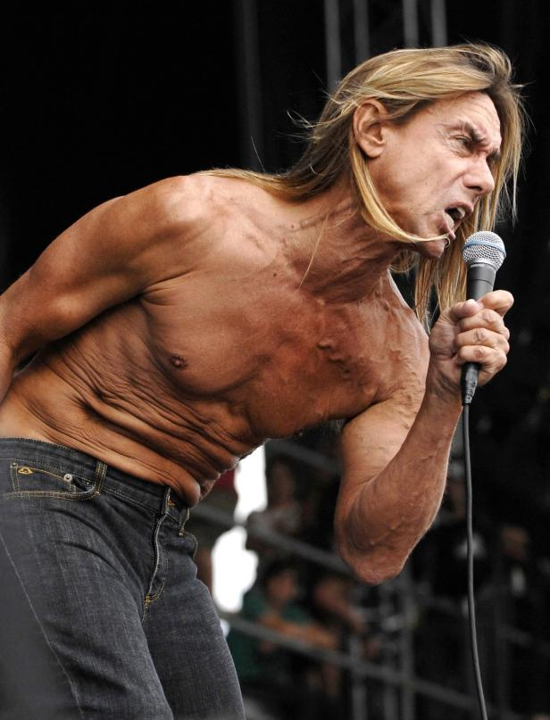 File of Iggy Pop of the band Iggy and the Stooges