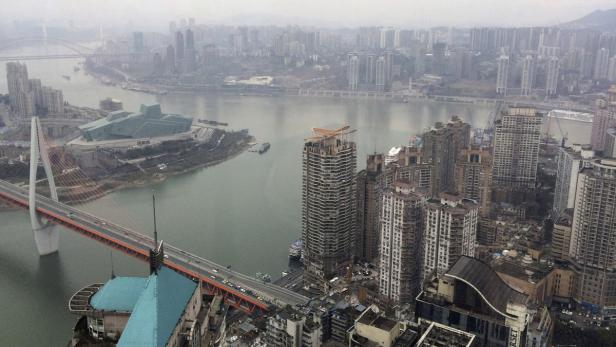 The junction of Yangtze River and Jialing River is
