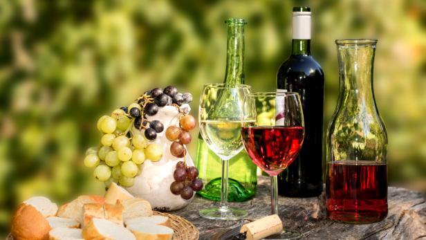 Rosé, Wein, rot, weiß, Rotwein, Weißwein, Picknick