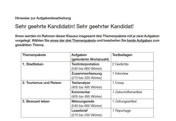 Zentralmatura Das Waren Die Themen Im Fach Deutsch Kurierat