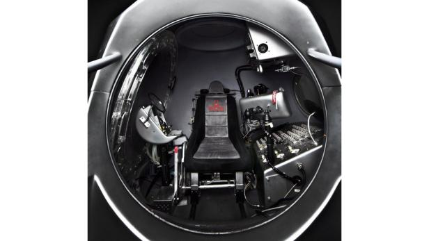 GLOBAL NEWSROOM/Joerg Mitter/Balazs Gardiepa03133597 A handout photograph released by Global Newsroom on 06 March 2012 shows the interior of the capsule for Red Bull Stratos, a mission to the edge of space to break the speed of sound in freefall seen in L