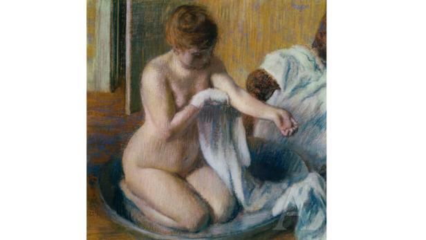 """""""Frau in der Badewanne"""" von Edgar Degas"""