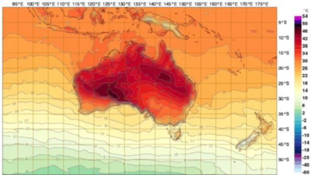 AUSTRALIA WEATHER INTERACTIVE FORECAST MAP AUSTRAL