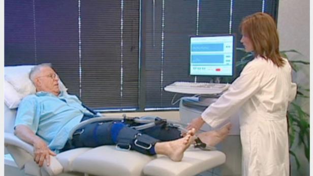 Der Blutfluss wird mit der Herzhose künstlich gesteigert. Das regt das Wachstum kleiner Gefäße an