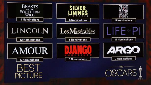 Die neun Nominierten für den Besten Film - darunter Amour.
