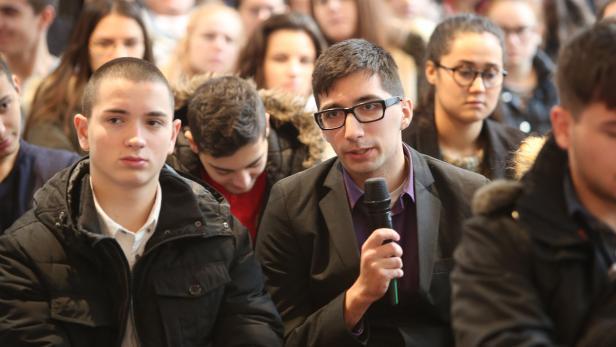 Bfi, Helmut Brandstätter, Diskussion mit Schülern,…