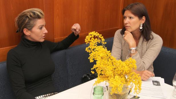Beim Novak: Beatrice Castaldi mit der KURIER-Redakteurin.