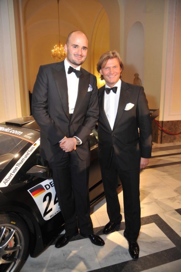 Albert von Thurn und Taxis (l.) mit Gastgeber Christian Marek.