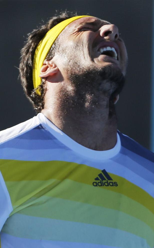 Frust und Schmerz: Für Juan Monaco sind die Australian Open schon wieder vorbei