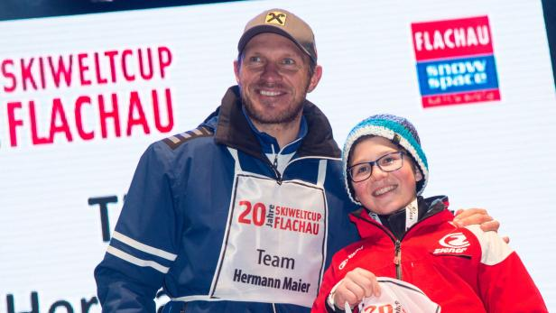 Hermann Maier mit seinem Teamkollegen Rupert Pichler