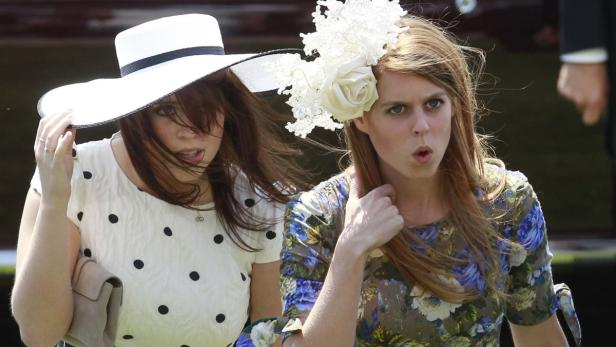 Britain's Princess Eugenie and Princess Beatrice a