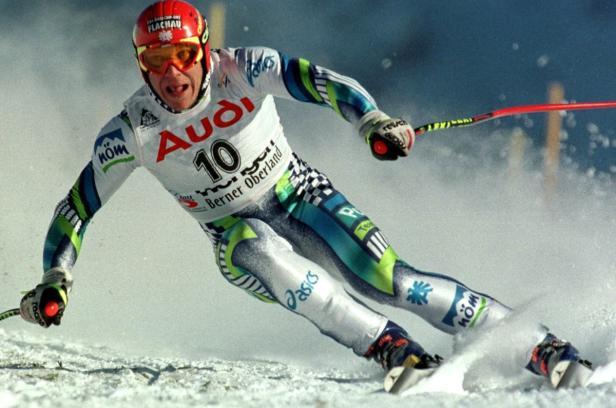 Hermann Maier auf dem Weg zum Wengen-Sieg 1998