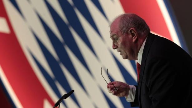 Chef-Polterer: Bayern-Präsident Uli Hoeneß