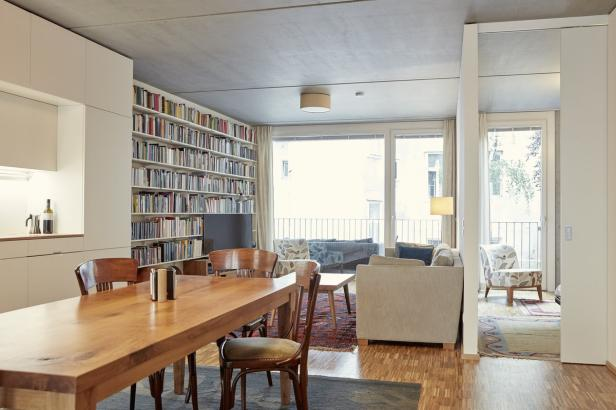 Die Wohnungen beinhalten einen großen Allraum, die restlichen Zimmer sind kompakt