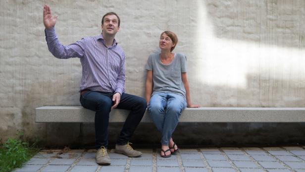 Architekt Arnold Brückner und Initiatorin Karin Pernkopf