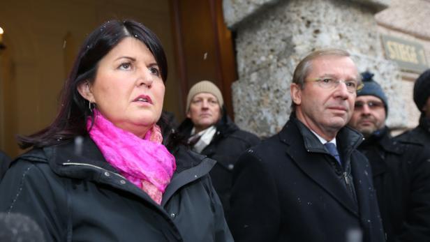 Geschieden: Gabi Burgstaller und Wilfried Haslauer können nicht mehr miteinander. Beide kämpfen erbittert um den Chefposten im Land.