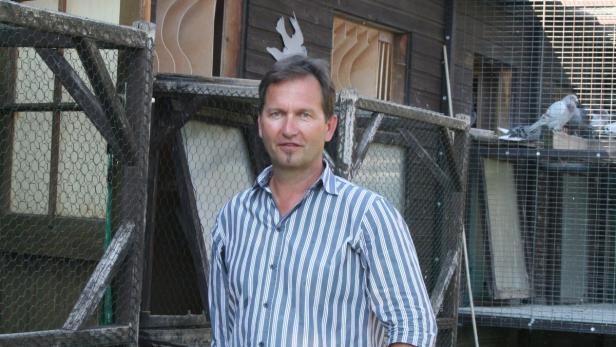 Josef Königshofer trainiert mit seinen Tauben zwei Mal täglich