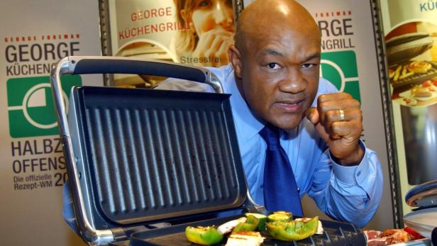 Eingekocht: Ex-Boxweltmeister George Foreman steht auf Gegrilltes