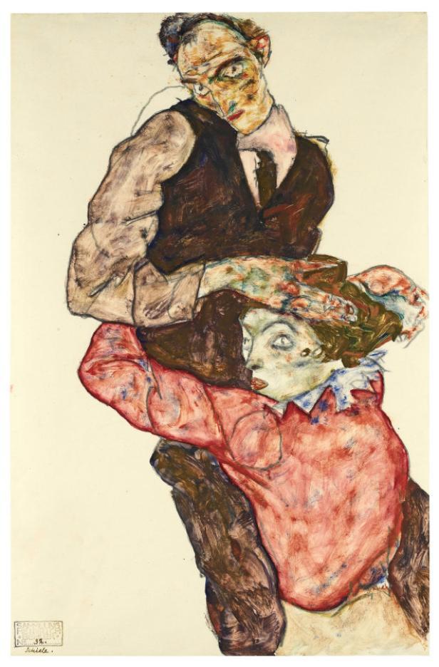 'Liebespaar / Selbstdarstellung mit Wally' (1914/15)