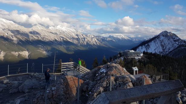 Kanada, Banff Gondola, Panoramablick oben…