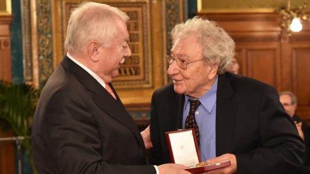 Michael Häupl mit Robert Opratko