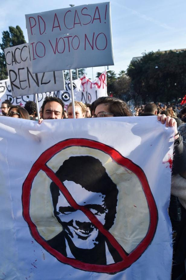 Votiert die Mehrheit mit Nein, will Renzi als Premier abdanken.