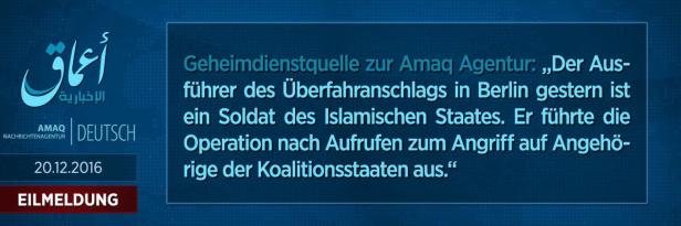 Das Bekennerschreibten des IS
