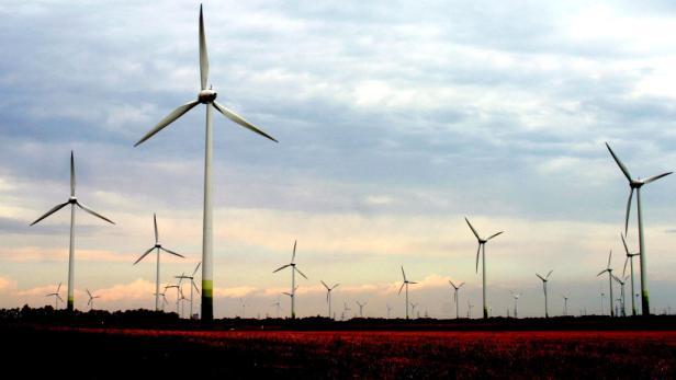 Windpark im burgenländischen Parndorf