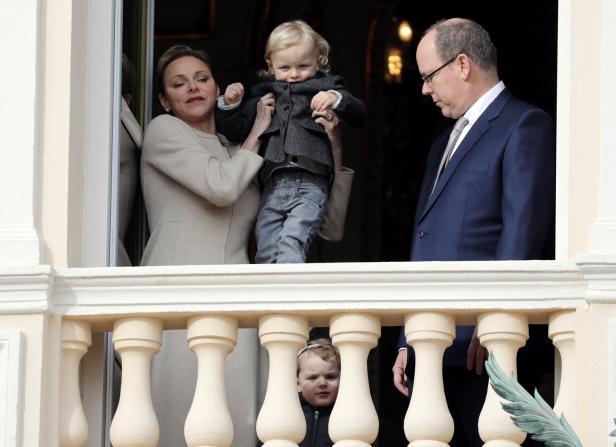 Prince Albert II of Monaco, his wife Princess Char