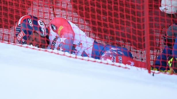 Unter anderem Steven Nyman stürzte in Garmisch schwer.