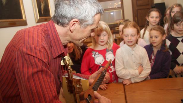 Marko Simsa begleitet die Kids der 3c der Neuland-Volksschule Laaerberg
