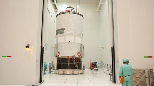 ATV3 Weltraumtransporter der ESA in Flugvorbereitung.
