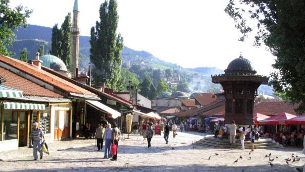 Das Tor zum alten türkischen Teil von Sarajevo.