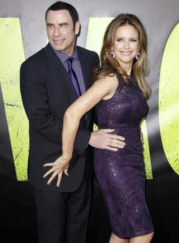 Travolta mit seiner Frau Kelly Preston