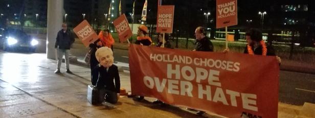 Bewegung Avaaz bedankt sich bei Niederländern: 'Sind froh, dass sie es Wilders gezeigt haben'