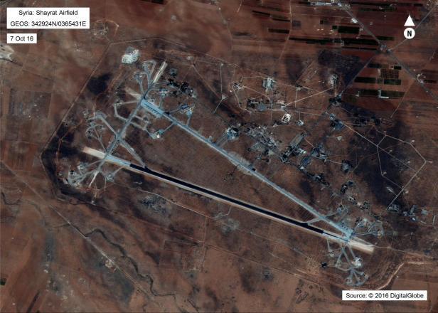 Der syrische Luftstützpunkt Schayrat war Ziel des Angriffs