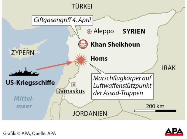 Syrien  US-Raketenangriff auf Luftwaffenbasis
