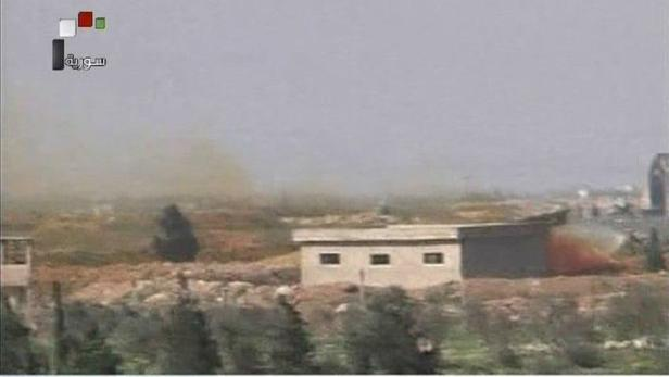A still image taken from a video broadcast on Syri