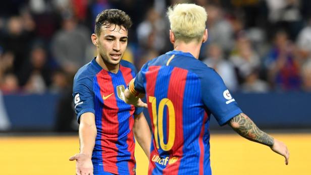 Munir El Haddadi spielte an Seite von Lionel Messi.